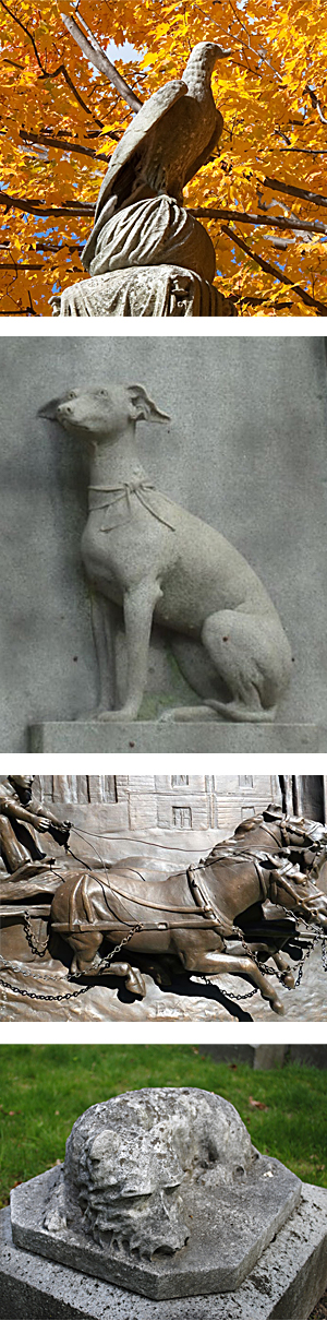 Animal Sculptures of Forest Hills Cemetery
