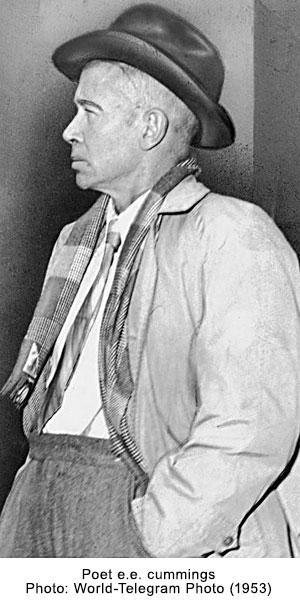 Poet e.e. cummings - Photo: World-Telegram Photo (1953)