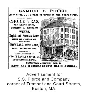 Advertisement for S.S. Pierce and Company